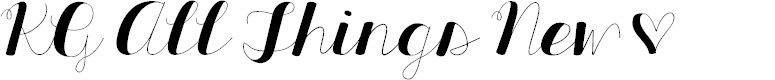 Preview image for KG All Things New Font