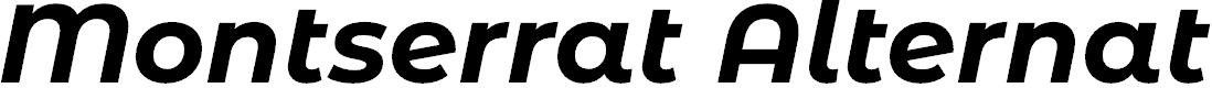 Preview image for Montserrat Alternates Bold Italic