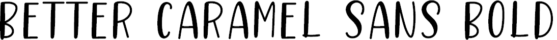 Preview image for Better Caramel Sans Bold