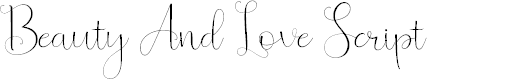Preview image for Beauty And Love ScriptFree Font