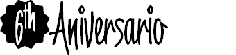 Preview image for 6thAniversario Font