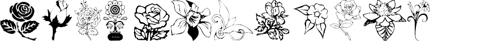 Preview image for Floral Design Font