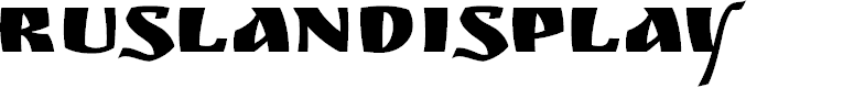 Preview image for RuslanDisplay Font