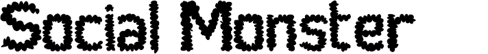 Preview image for Social Monster Normal Font