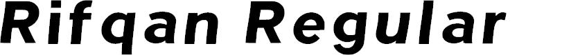 Preview image for Rifqan Regular Font
