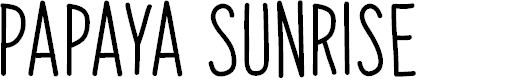 Preview image for Papaya Sunrise Font