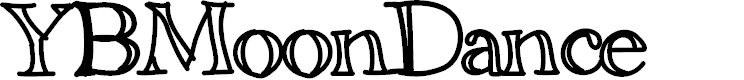 Preview image for YBMoonDance Font