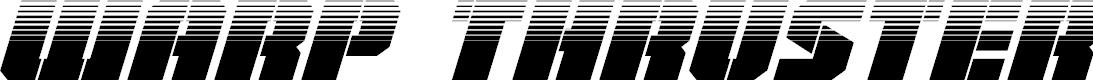 Preview image for Warp Thruster Half-Tone Italic