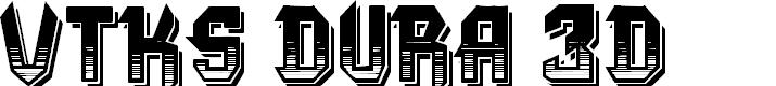 Preview image for VTKS DURA 3D Font