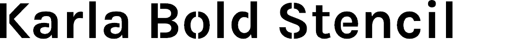 Preview image for Karla Bold Stencil Font