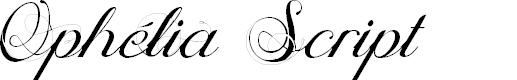 Preview image for Ophélia Script Font
