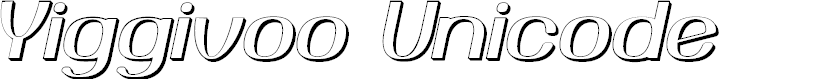 Preview image for Yiggivoo Unicode 3D Italic