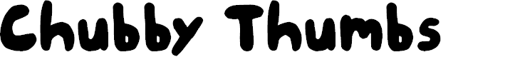 Preview image for Chubby Thumbs Font