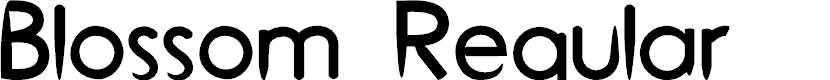 Preview image for Blossom Regular Font