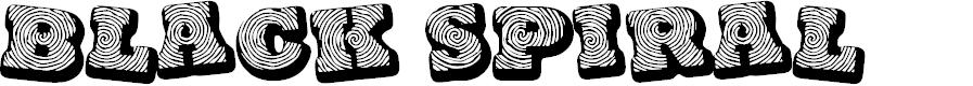 Preview image for Black spiral Font