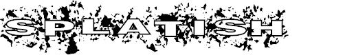 Preview image for Splatish Font