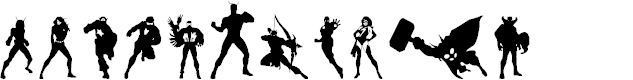 Preview image for Heroes Assemble Dingbats Regular