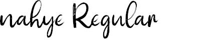 Preview image for nahye Regular Font