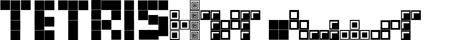Preview image for Tetris Blocks Font