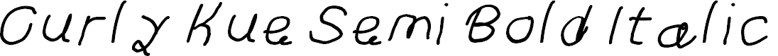 Preview image for Curly Kue Semi Bold Italic