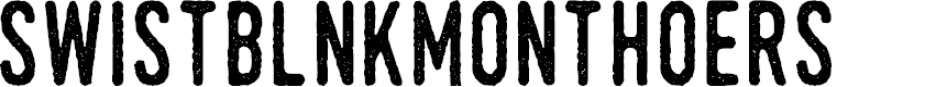 Preview image for SwistblnkMonthoers Font
