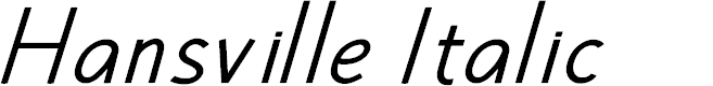 Preview image for Hansville Italic