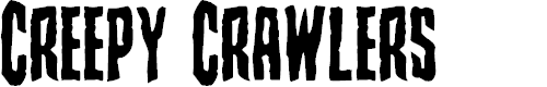 Preview image for Creepy Crawlers Font