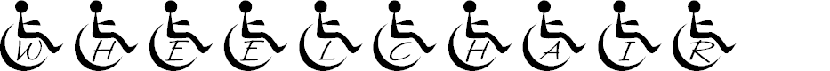Preview image for JLR Wheelchair Font