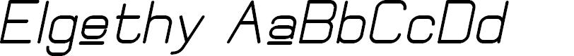 Preview image for Elgethy Upper Bold Oblique