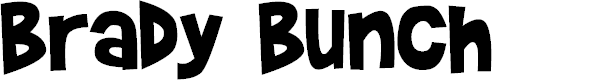 Preview image for Brady Bunch Font