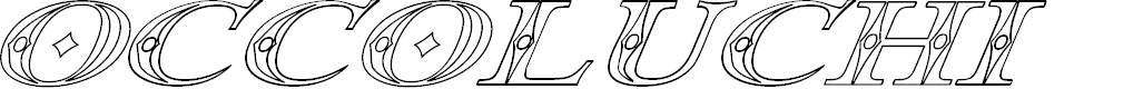 Preview image for Occoluchi Italic Outline