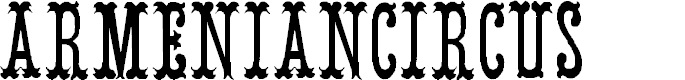 Preview image for ArmenianCircus Font
