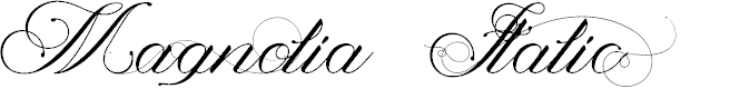 Preview image for Magnolia  Italic Font