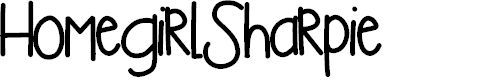 Preview image for HomegirlSharpie Font