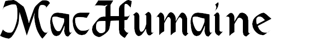 Preview image for MacHumaine Regular Font