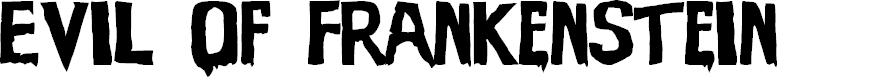 Preview image for Evil Of Frankenstein Font