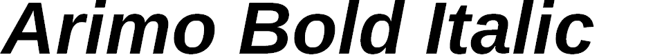 Preview image for Arimo Bold Italic