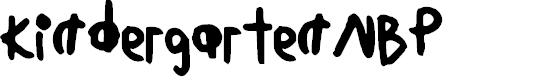 Preview image for KindergartenNBP Font