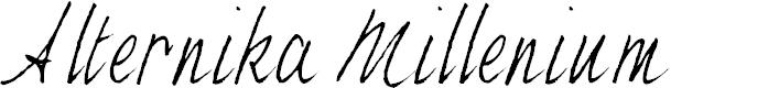 Preview image for Alternika Millenium Font