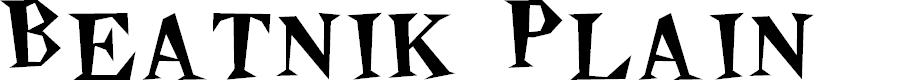 Preview image for Beatnik Plain Font
