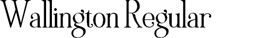 Preview image for Wallington Regular Font