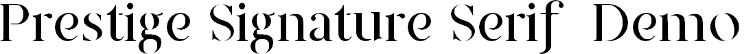 Preview image for Prestige Signature Serif - Demo Font