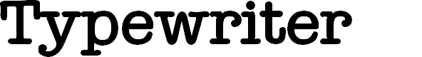Preview image for Typewriter Bold