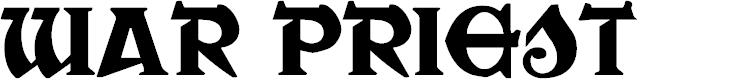 Preview image for War Priest Regular Font