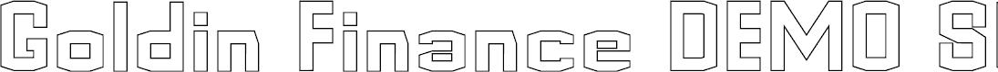Preview image for Goldin Finance DEMO Storoke Font