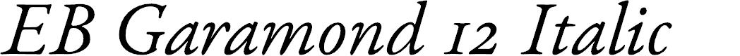 Preview image for EB Garamond 12 Italic