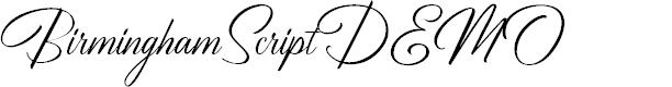Preview image for BirminghamScriptDEMO Font