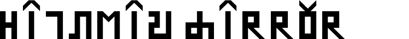 Preview image for Hinglish mirror Regular Font
