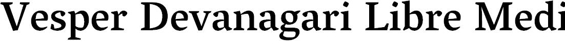 Preview image for Vesper Devanagari Libre Medium