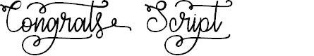 Preview image for Congrats Script Font